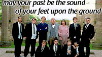may your past be the sound of your feet upon the ground [the history b