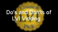Do's and Don'ts of Vidding